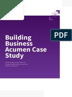 Building Business Acumen Case Study