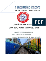 Summer training at Indian railways Electrical genl. department.
