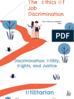 The Ethics of Job Discirmination- Velasquez Group 7 Business ethics