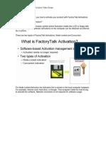 What is FactoryTalk Activation Video Script