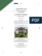 Auktionskatalog 185