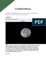 Second failed Moon Landing