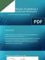 Apresentação ADM - Produtividade e Competitividade