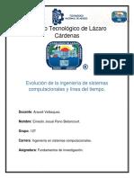 Evolución de La Ing. en Sistemas y Linea Del Tiempo