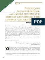 Percepções Sociolinguísticas