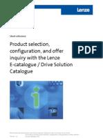 Short Reference Lenze E Catalogue DSC