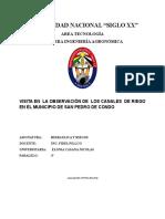 Visita en La Observación de Los Canales de Riego en El Municipio de San Pedro de Condo