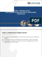 Topic 7 Teaching Learning Styles_The Constructivism and Theory Based Direct Instruction