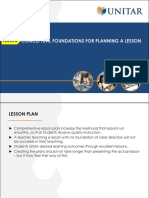 Topic 8 Conceptual Foundations for Planning a Lesson