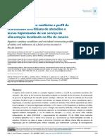 Condições higiênico-sanitárias e perfil da comunidade microbiana de utensílios e mesas higienizadas de um serviço de alimentação localizado no Rio de Janeiro