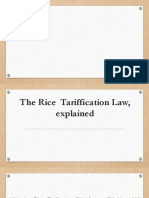 The Rice Tariffication Law, Explained