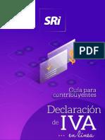 Guía para contribuyentes Declaracion de Iva