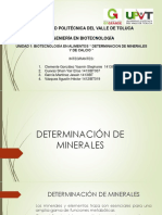 Determinacion de Minerales y Calcio