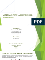 Materiales Sinteticos en la construccion