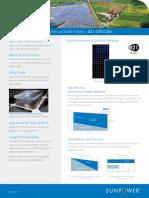 Sunpower x Series Commercial Solar Panels x21 470 Com Datasheet 524935 Revb