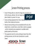 Screen Printing Basic Notes
