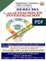 Afiche de Investigación