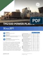 GE - TM 2500 Plantas de Generación de Energía