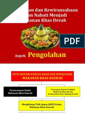 Makanan Khas Daerah Bep Pkwu Aspek Pengolahan
