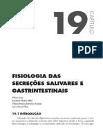 FISIOLOGIA DAS SECREÇÕES SALIVARES E GASTRINTESTINAIS