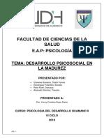 Mono de Desarrollo Psicosocial en La Madurez