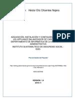 Plan de Gestion Poyecto IGSS Balanceadores de Carga