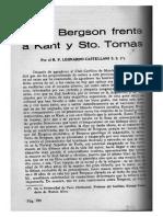 Leonardo Castellani - Henri Bergson frente a Kant y Santo Tomás