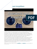 Speakers and Amplifiers