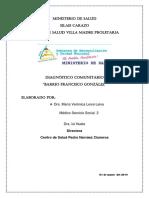 DIAGNOSTICO COMUNITARIO BARRIO FRANCISCO GONZALEZ JINOTEPE CARAZO