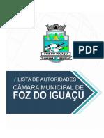 Lista de Autoridades Foz Do Iguaçu 2019