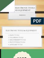 Basic Electronic Tools & Equipment