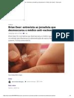 Brian Deer_ Entrevista Ao Jornalista Que Desmascarou o Médico Anti-Vacinas – Observador