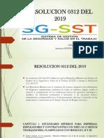 Resolucion 0312 de 2012