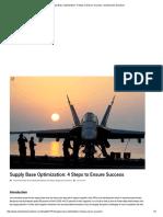 Supply Base Optimization
