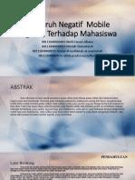 Pengaruh Negatif Mobile Lagends Terhadap Mahasiswa