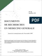 Recherche Médecine Générale