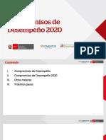 COMPROMISOS DE DESEMPEÑO2020