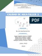 Taller 3- Calidad de Agua