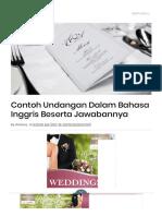 Contoh Undangan Dalam Bahasa Inggris Beserta Jawabannya.pdf