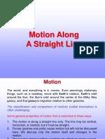 1 Motion Along Straight Line