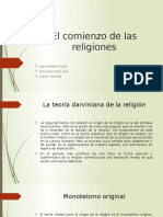 El Comienzo de Las Religiones