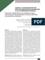 Composición Química y Enriquecimiento Lactosuero Con l. Helveticus