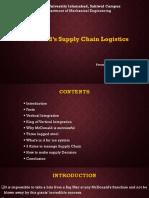 McDonald's Supply Chain Logistics
