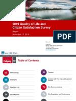 2019 Citizen Satisfaction Survey Report