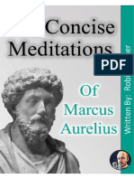The Concise Meditations of Marcus Aurelius by Robin Homer
