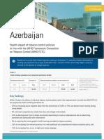 Tobacco Control Fact Sheet - Azerbaijan