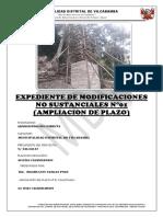 AMPLIACIÓN de PLAZO y Presupuestal Sin Evaluacion