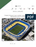 'Projeto Esloveno' Quer Ampliar Capacidade de La Bombonera Para 75 Mil Fãs - 07-11-2019 - UOL Esporte