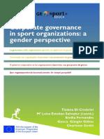 Corporate governance in sport organizations