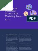 7 Secret Ingredients of Great B2B Marketing Teams
